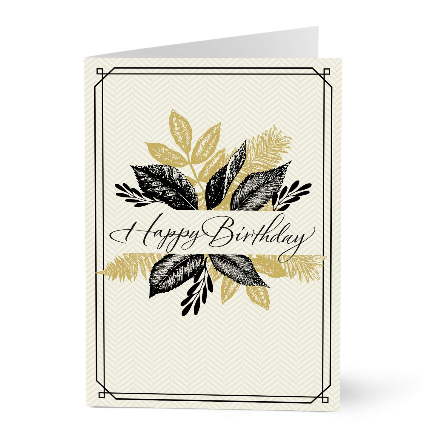 Hallmark Business Birthday Card for Customers (Happy Birthday Leaves) (Pack of 25 Greeting Cards)