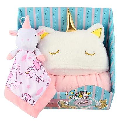 Winthome Juego de regalo para bebé, toalla de baño con capucha suave, juego de