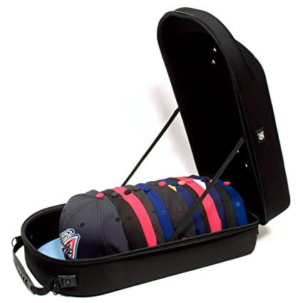 bcaf36f21a2 Image Unavailable. Image not available for. Color  Homiegear Brand Carrier  Hat Case - 12 Hats ...