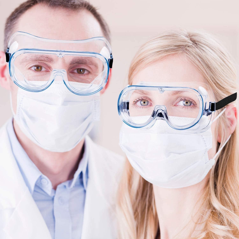 Perfecto para Usuarios de Gafas Laboratorio Gafas de Seguridad con Transparentes Lente /óptica Anti Rasgu/ños Antivaho Protectoras para Ciclismo//DIY//Trabajo//Industrial//Agr/ícola Gafas de Protecci/ón