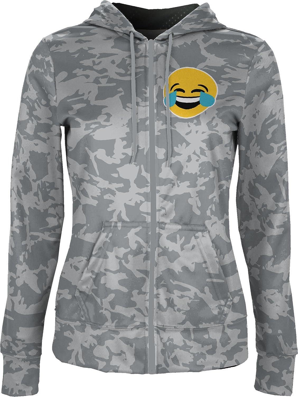 ProSphere Women's Emoji Tearful Laugh Trending Camo Fullzip Hoodie