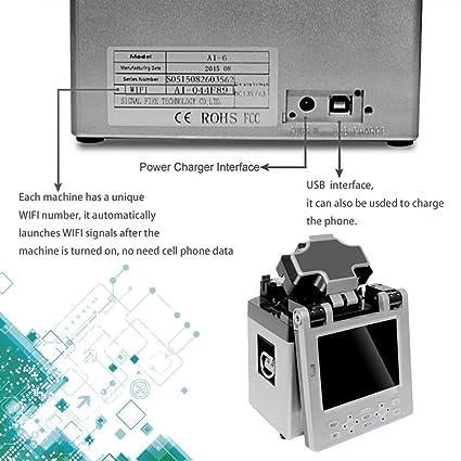 ai-6 funda para control remoto automático inteligente fusion-splicer FTTH fibra óptica empalme máquina: Amazon.es: Iluminación