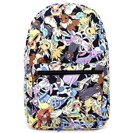 de820348674a Amazon.com  Pokemon Eevee Evolution All Over Print Backpack Standard  Toys    Games