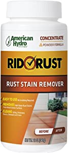 Rid O' Rust Powder Rust Stain Remover. Powder Irrigation Rust Stain Remover and Calcium Cleaner