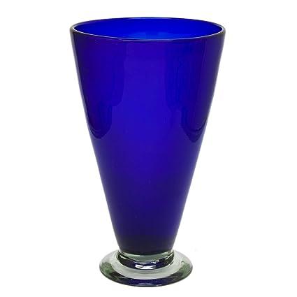 Amazon Novica Decorative Large Blown Glass Vase Blue Cobalt