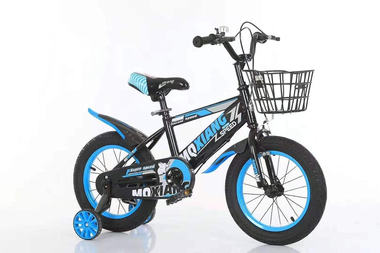 Kinderfahrrad Stahlrahmen mit St/ützr/ädern und Korb 16Zoll Spielrad BMX f/ür Jungen und M/ädchen Rot Schwarz mit Vorderrad und Hinterradbremse