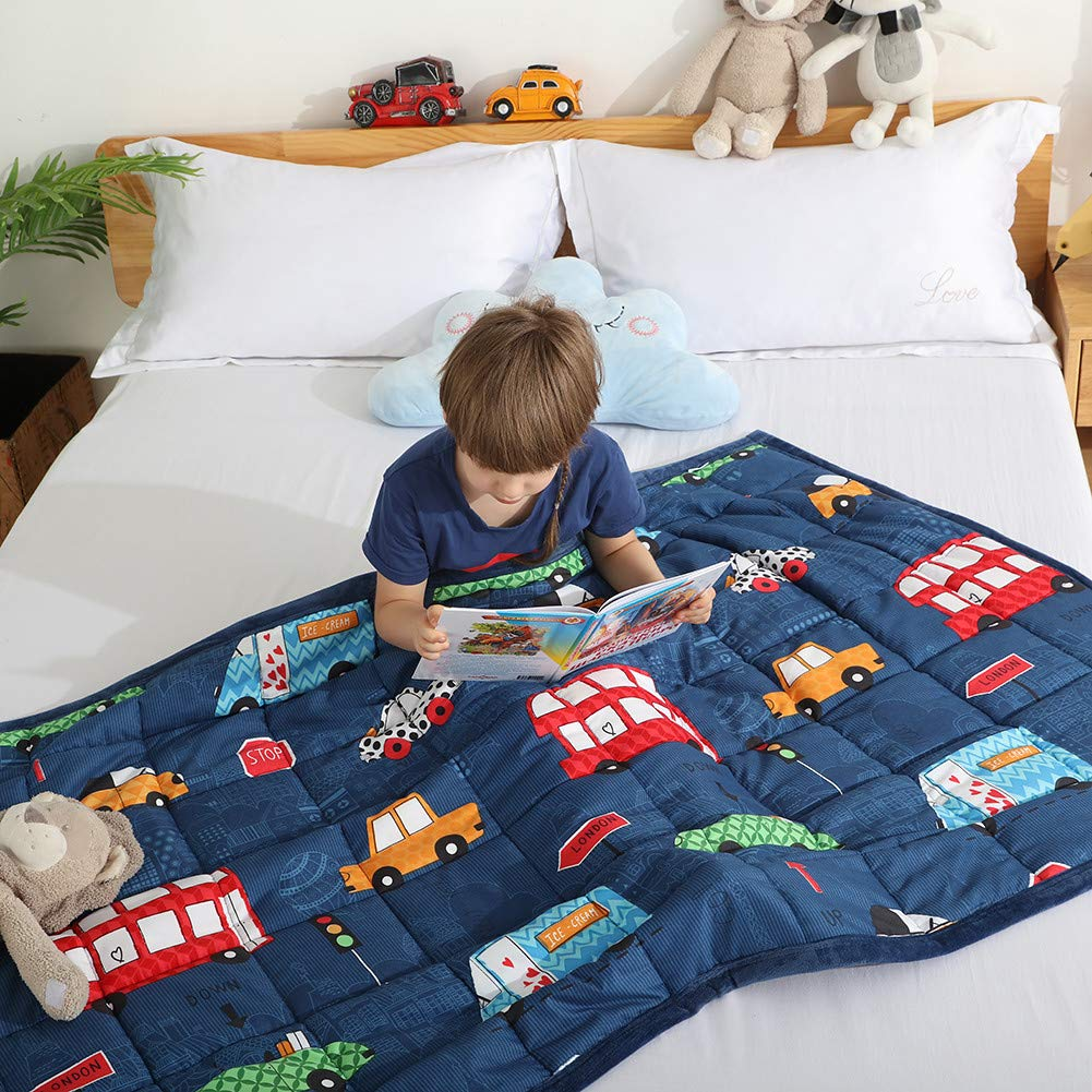 Haowaner Cooling Cotton Kids Weighted Blanket 10lbs 41 x 60 inches Soft