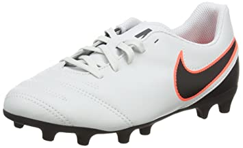 quality design b8d04 64c5a Nike Jr. Tiempo Rio III FG Football Cleats - 3Y Pure Platinum Black-
