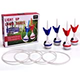 LED Lawn Darts Game-Glow In The Dark Game Set-Outdoor Family Game for Backyard, Lawn, Beach and More.