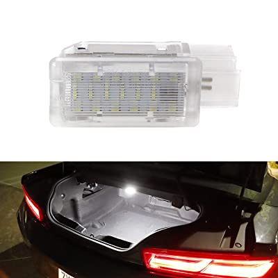 iJDMTOY (1 Xenon White LED Trunk Cargo Light Compatible with Chevrolet Camaro Cruze Trax Spark, Cadillac XTS, Buick Lacrosse, GMC Acadia etc. Great as OEM Replacement: Automotive