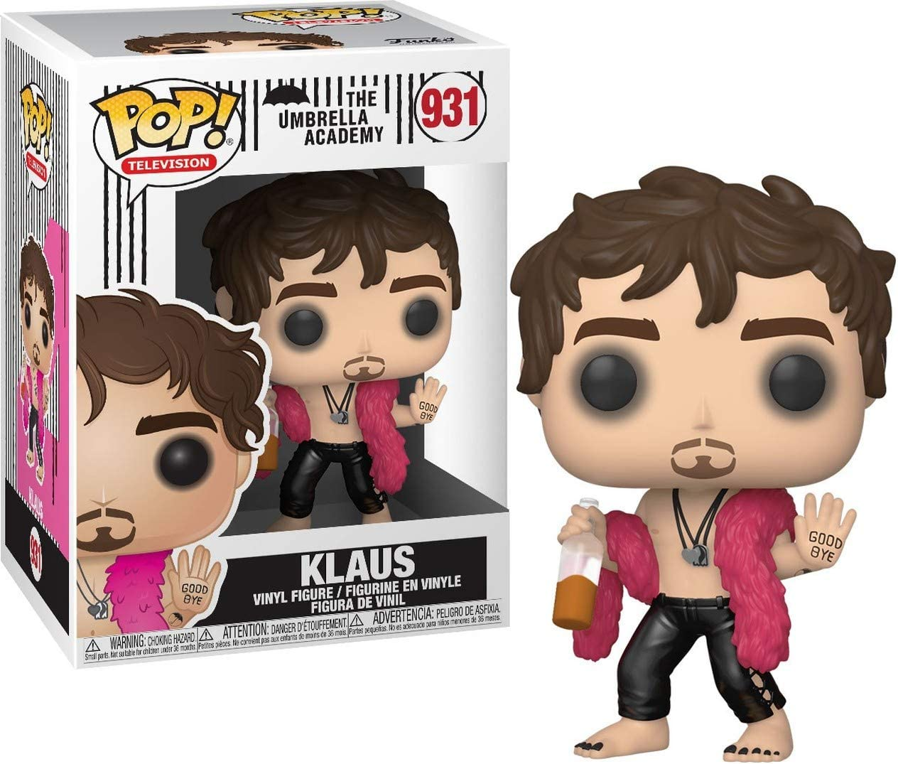 Klaus Hargreeves #931 Vinyl Figure The Umbrella Academy Bundled with a Pop Box Protector Case Pop TV