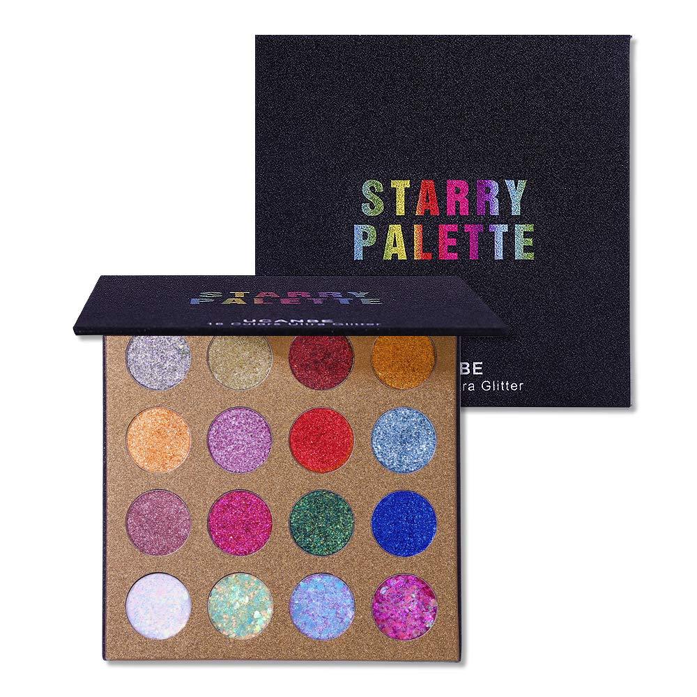 UCANBE 16 Shade Pro Glitter Eyeshadow Palette