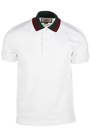 4fc75c57f Gucci Men's Short Sleeve t-Shirt Polo Collar White UK Size L (UK 40 ...