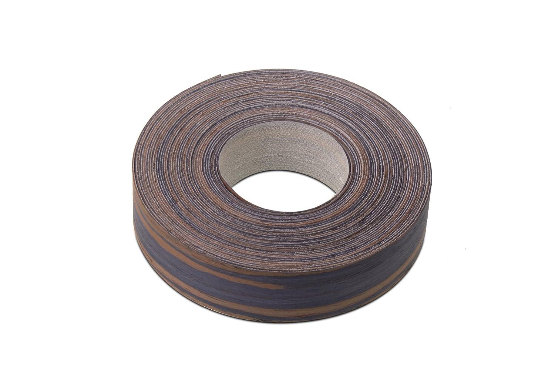 Bandas de chapa de chapa de diseñ o de madera de é bano de borde/borde cinta (22 mm x 7, 5 m longitud) –  grado superior pre-glued DIY para planchar (Hotmelt) diseñ ado madera borde rollos