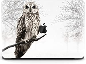 Mertak Hard Case for Apple MacBook Pro 16 Air 13 inch Mac 15 Retina 12 11 2020 2019 2018 2017 Touch Bar Trees Print Foggy Protective Cover Bird Animal Laptop Forest Plastic Owl Clear Design