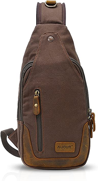 Men Women Outdoor Canvas Cross Body Chest Bag Travel Sport Shoulder Bag Backpack