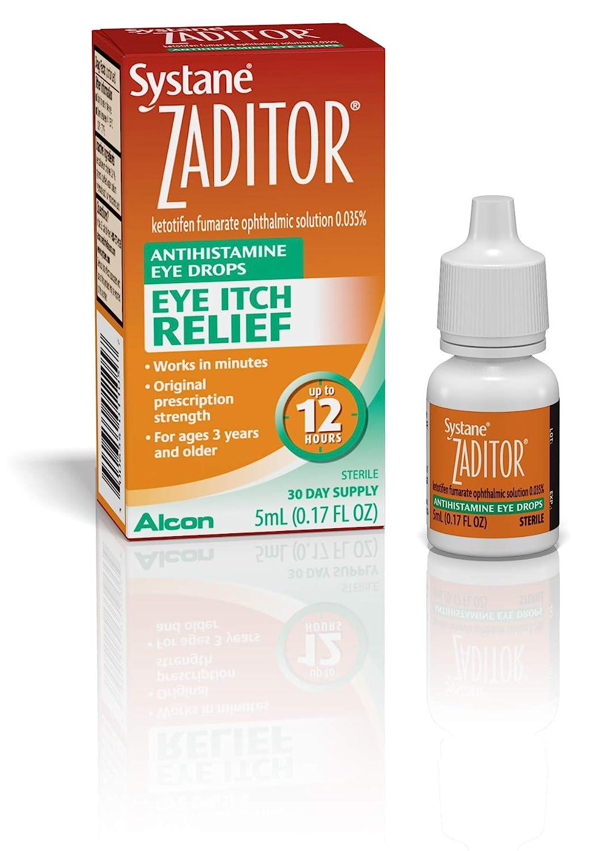 Amazon.com : Zaditor Antihistamine Eye Drops, 5-mL : Eye Drops : Grocery &  Gourmet Food