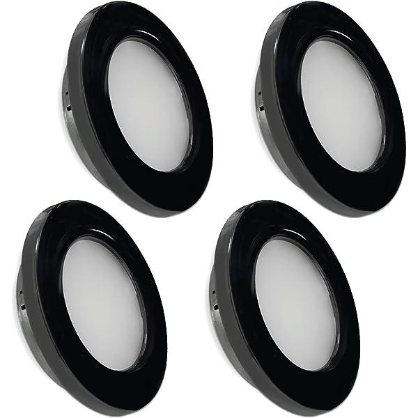 pack of 2 Dream Lighting 12v 76mm LED Light White Panel with Flourescent Switch,Under Cabinet LED Cool White Lighting