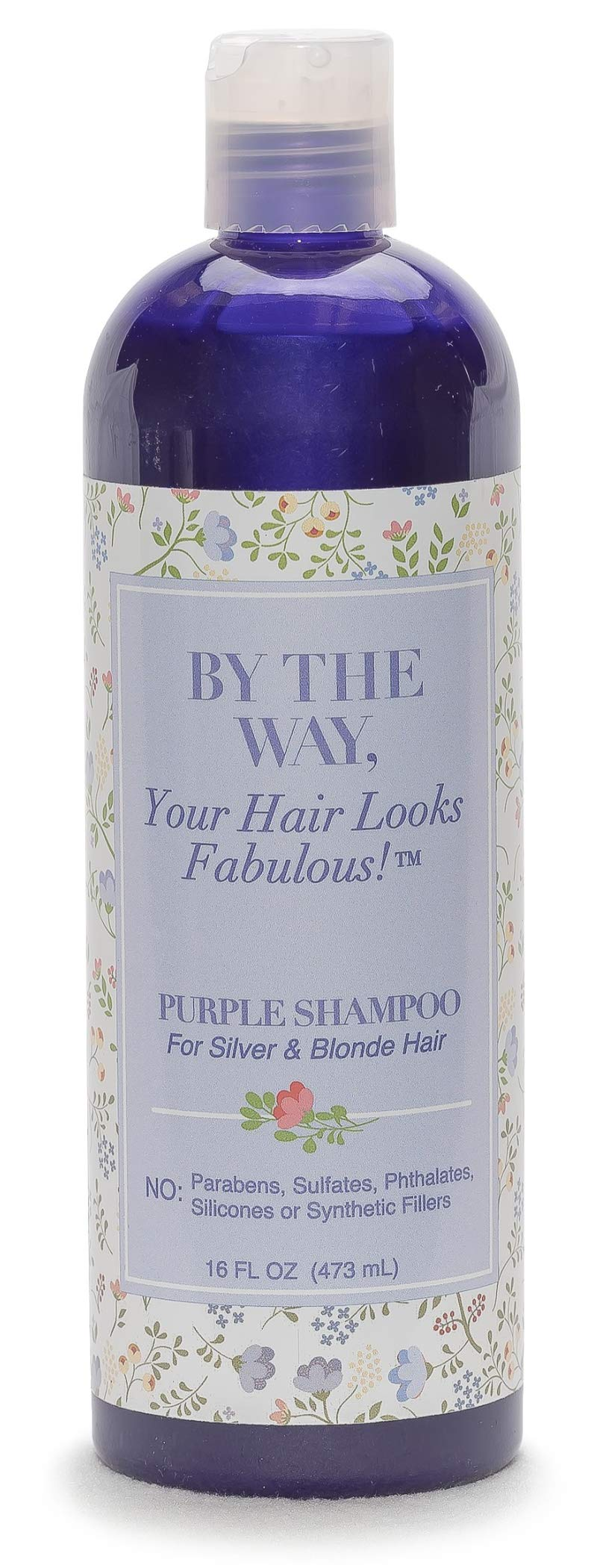 Purple Shampoo by The BTW Co. for Silver, Gray and Blonde Hair: Brighten and Remove Yellowing or Brassy Tones with No Sulfates, No Parabens - 16 ounce - Cruelty-Free for Color-Treated and Natural Hair by BY THE WAY, Your Hair Looks Fabulous!
