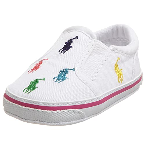Polo Ralph Lauren Bal Harbour Repeat Layette, Zapatillas de Estar por casa Unisex bebé, Blanco (Weiß (White), 17 EU: Amazon.es: Zapatos y complementos