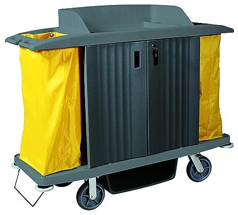 Habitaciones Service carro de plástico – 2 Schwenkbare ruedas diámetro de 15 cm con tope y