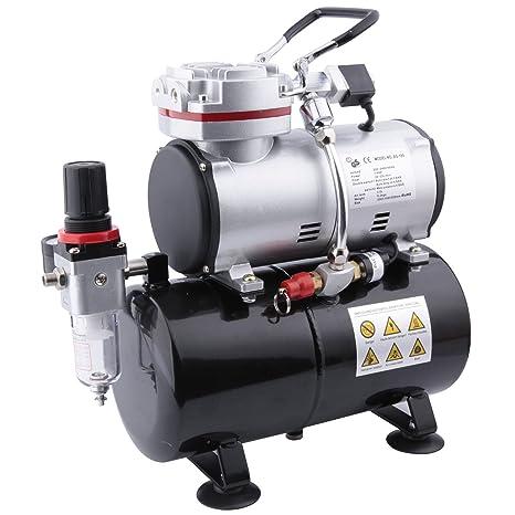 Compresor de aerógrafo Fengda FD-189 con calderín / regulador de presión / 4 bar