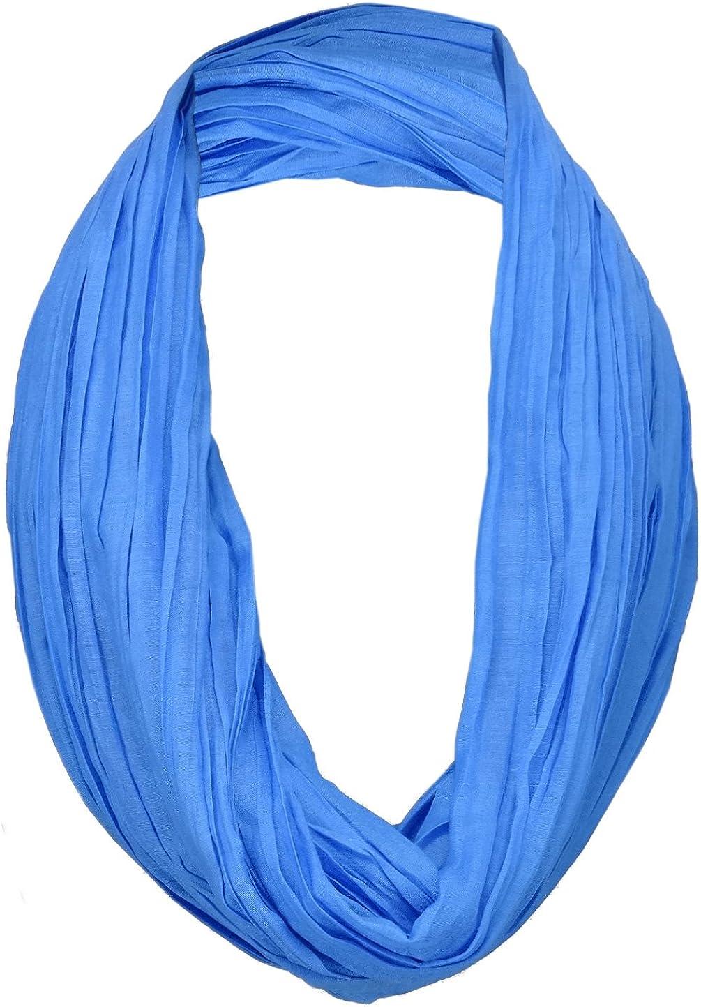 TigerTie Loop Schal in blau royalblau einfarbig Uni Schlauchschal Rundschal