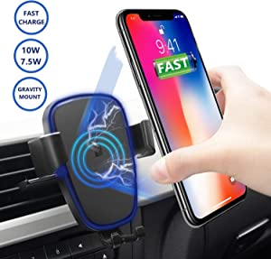 Free Upgraded 2in1 10W Wireless Car Charger Mount