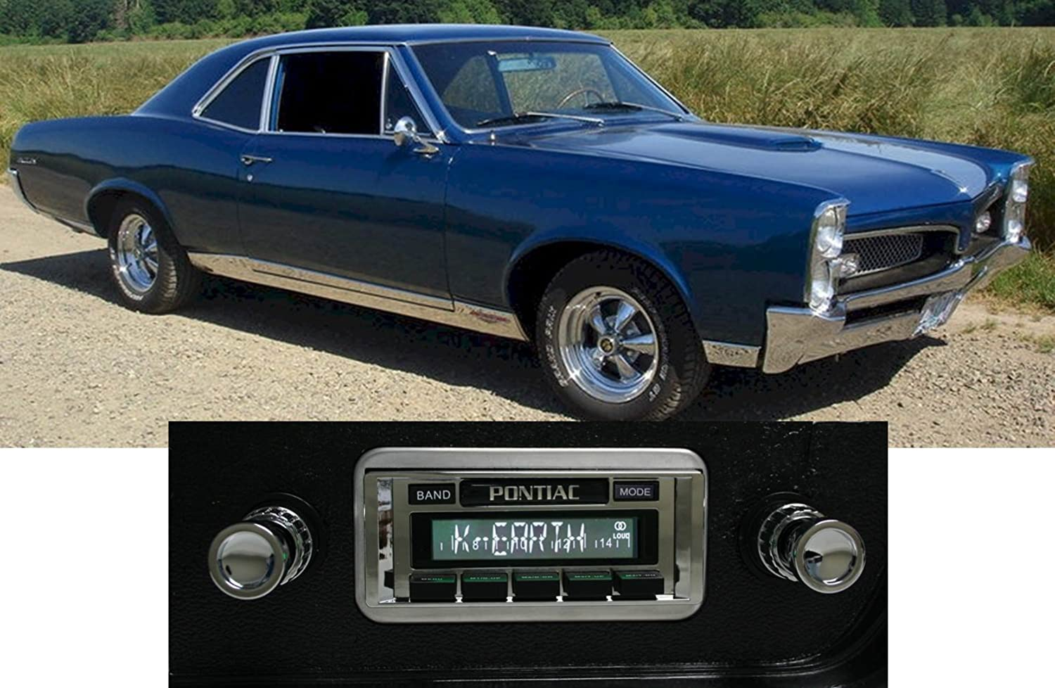 Custom Autosound Stereo compatible with 1967 GTO LeMans Tempest USA-630 II High Power 300 watt AM FM Car Stereo//Radio with auxiliary input