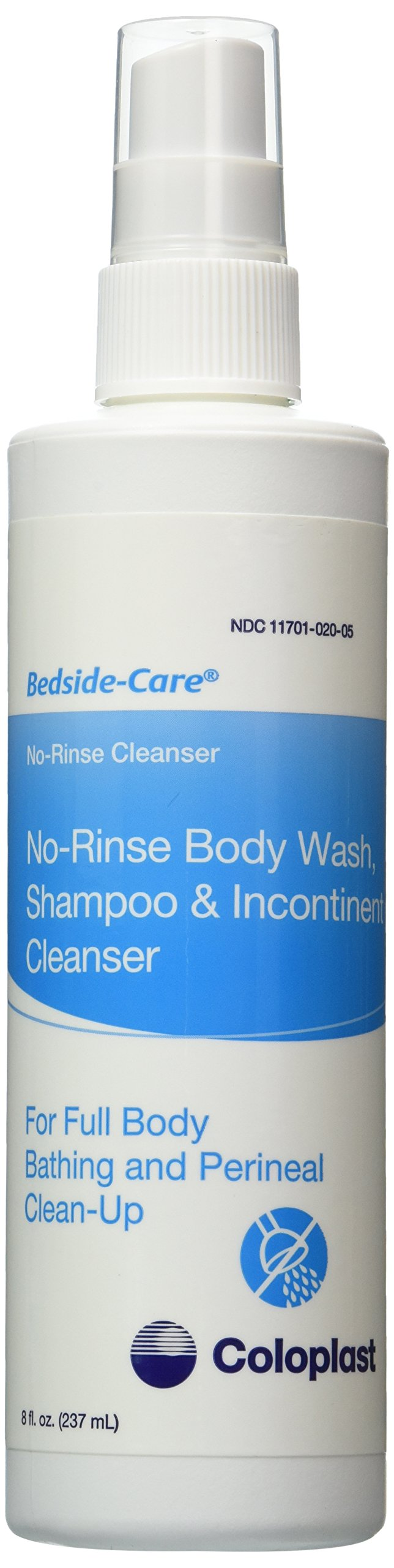 Special Sale - 1 Pack Of 5 - Bedside-Care No-Rinse All-Body Wash and Incontinent Cleanser COL1762 Coloplast Corporation, 8.fl oz Spray
