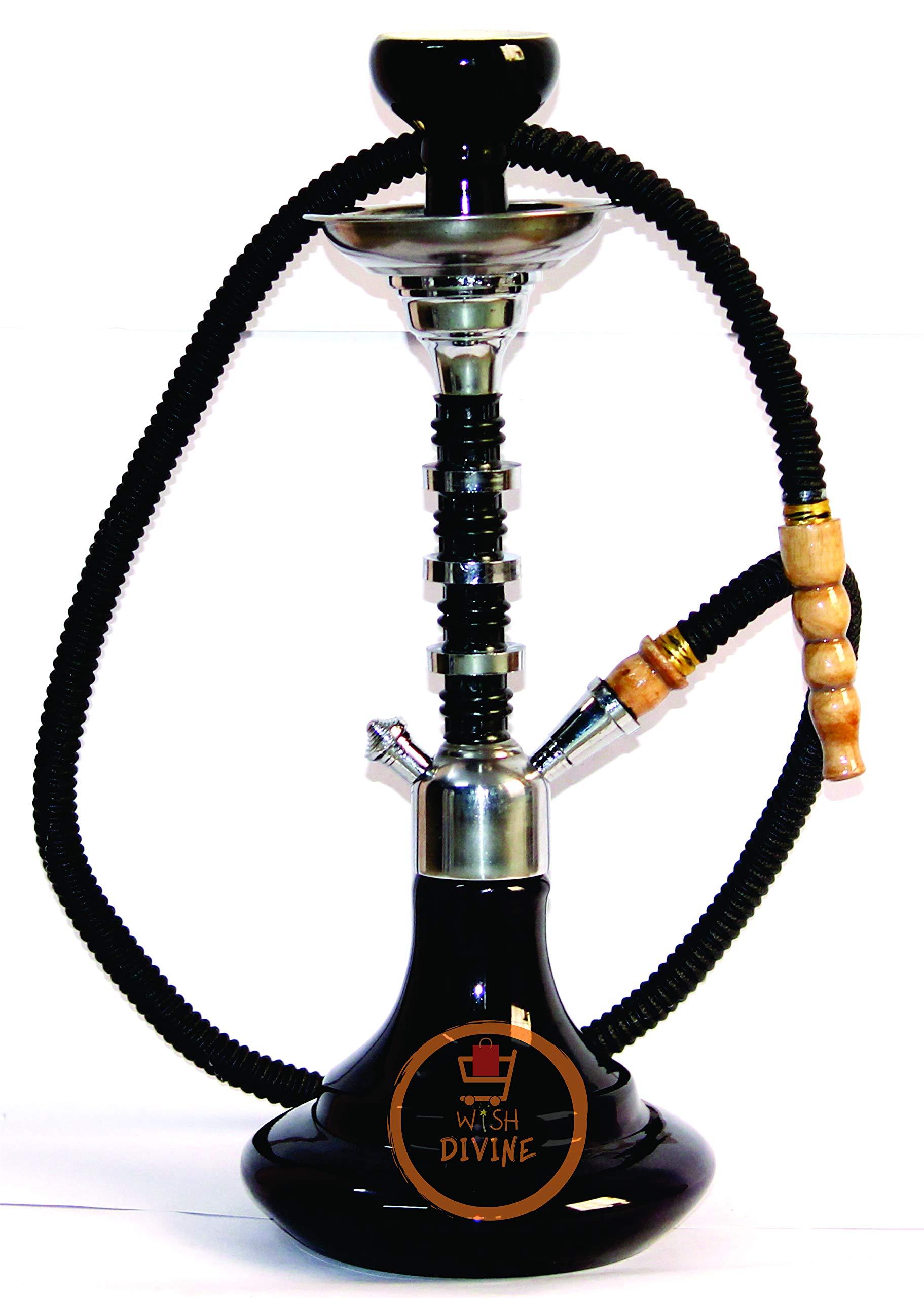 Wish Divine Glass Hookah Pot (Black)