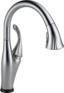 Delta Faucet Addison Single-Handle Touch Kitchen Sink Faucet with Pull Down Sprayer, Touch2O and ShieldSpray Technology, Magnetic Docking Spray Head, Arctic Stainless 9192T-AR-DST
