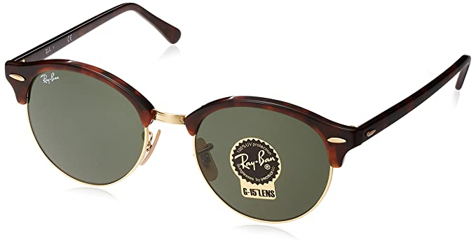 a4b32a330b96 ... australia ray ban unisex clubround classic rb4246 990 non polarized  sunglasses tortoise green cbe6b f267f