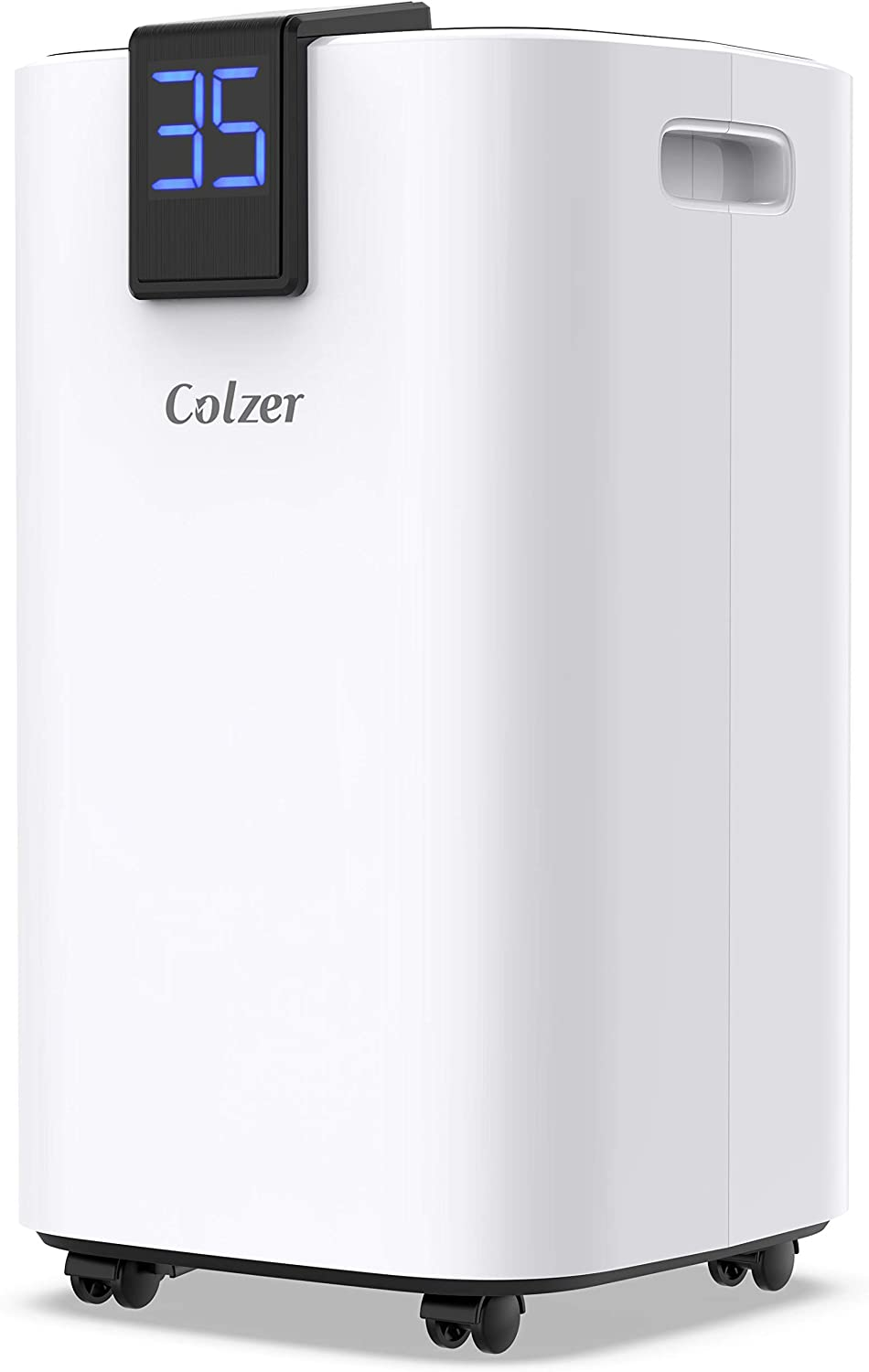 COLZER 30 Pints 1,500 SQ FT Home Dehumidifiers for Basements & Large Rooms, Large Removal Capacity with 5.3-Pint Water Bucket & Continuous Drain Hose for Self-draining