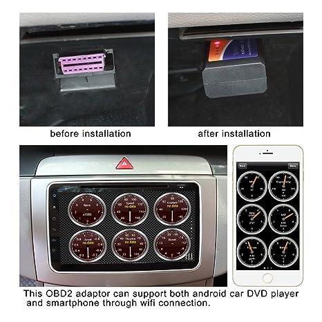 iegeek wifi wireless mini obdii auto coche obd2 escner herramienta de anlisis de diagnostico canbus lector de cdigo diagnstico a bordo para apple