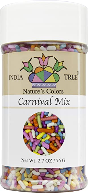 India Tree Nature\'s Colors Carnival Sprinkles, 2.7 Ounce: Amazon.com ...