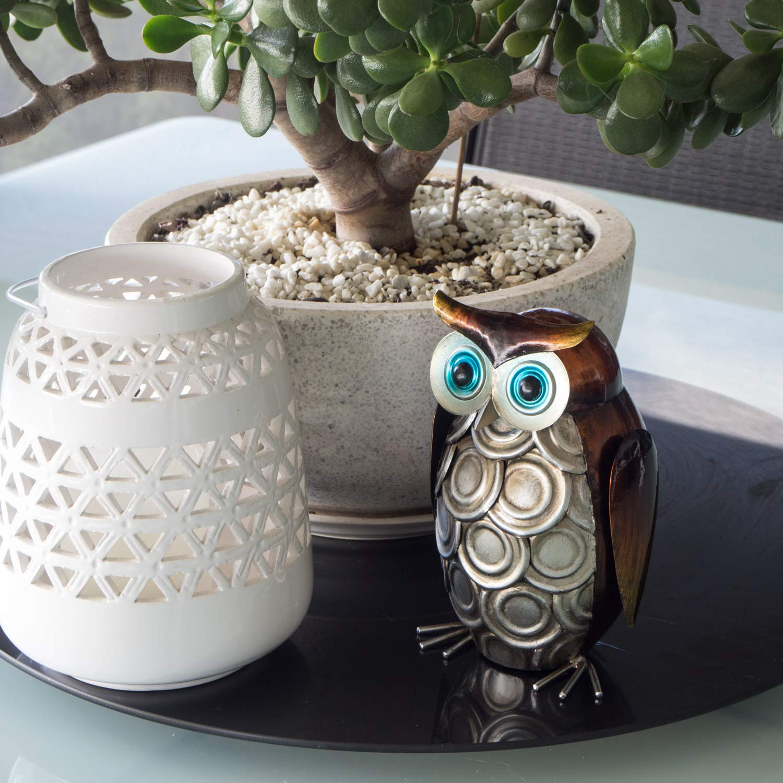 Amazon.com: Decoración de búho - Diseño de metal 3D ...