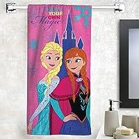 Athom Trendz Disney Frozen 350 GSM Cotton Bath Towel - Pink