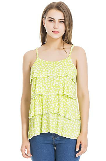 cdd635d46fc Modern Mummy Women's Floral Maternity Nursing Tank Top and Cami Shirts  Green/White Small