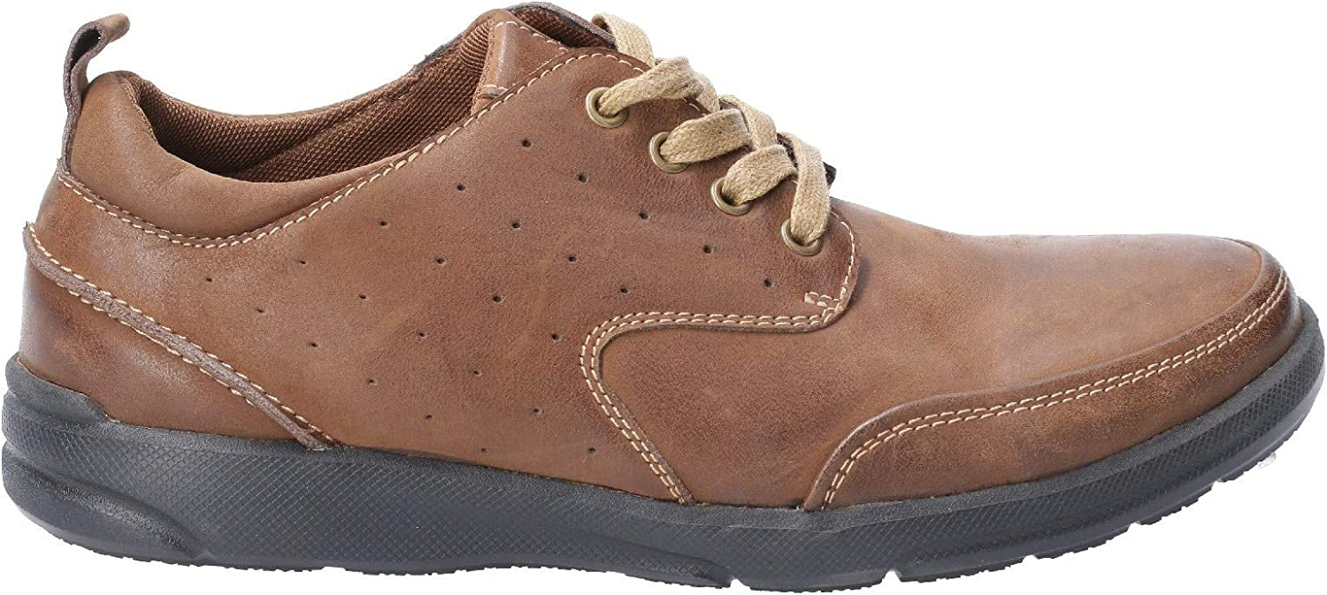 Hush Puppies Apollo Mens Leather Material Casual Shoes Brown