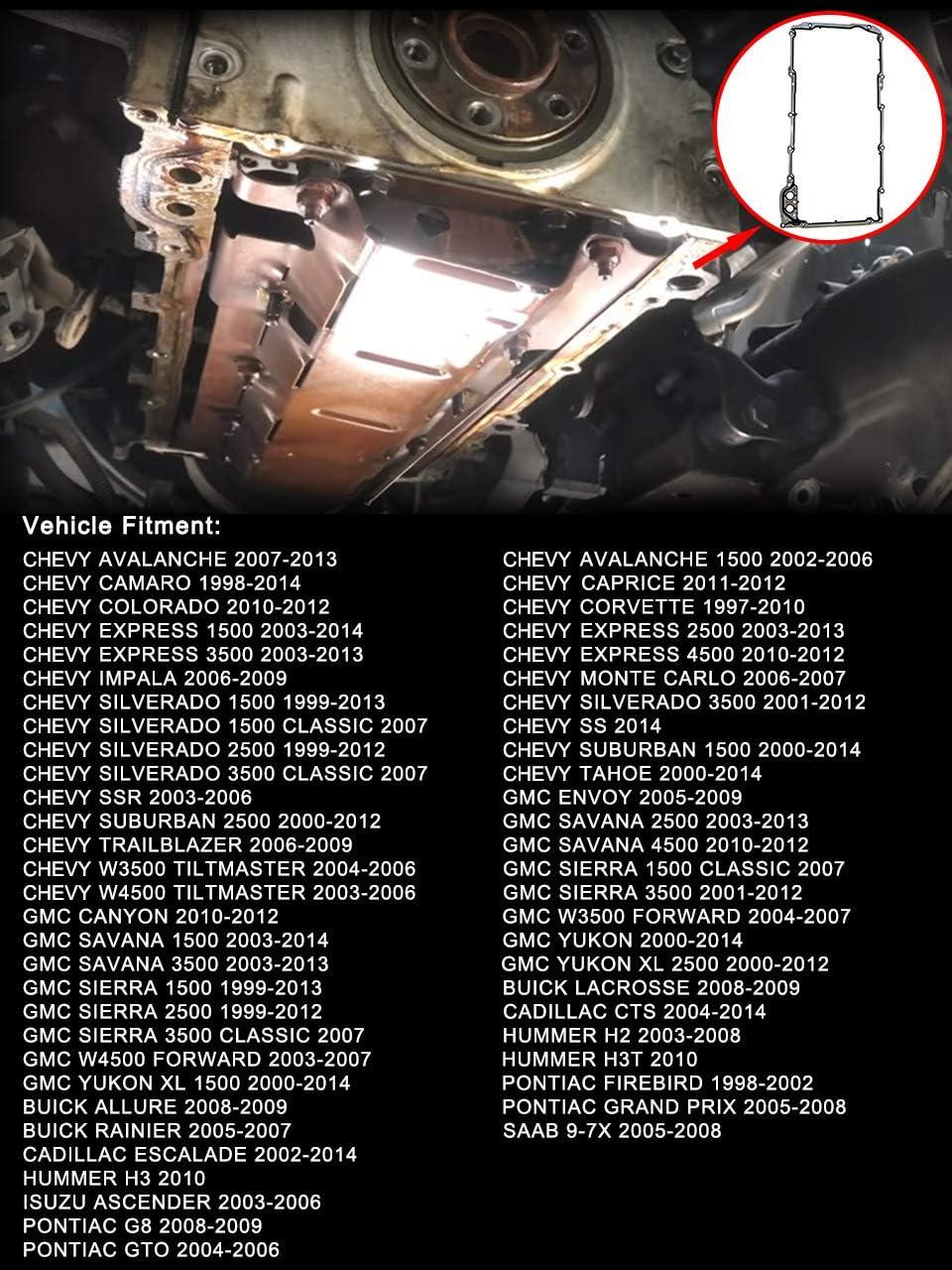 For 2007-2009 Cadillac Escalade ESV Valley Pan Gasket Mahle 98314GR 2008