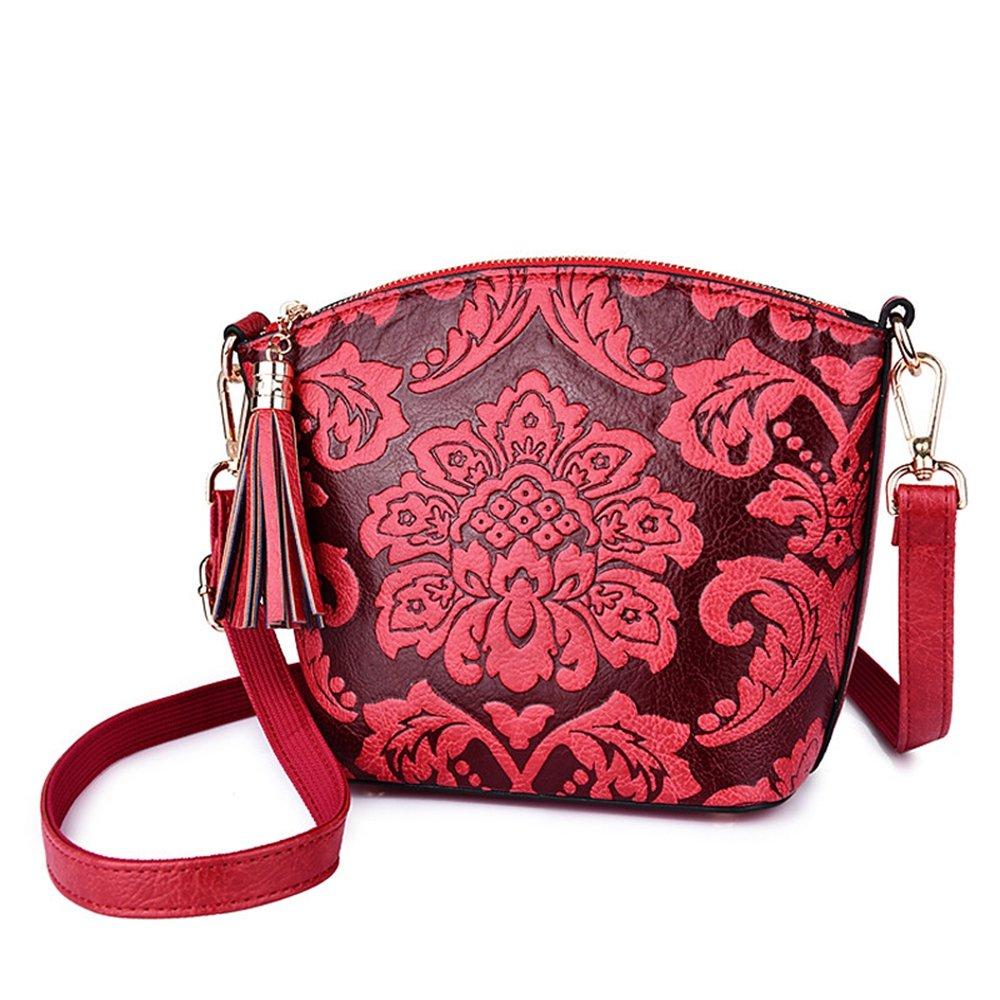 98f52aea7a37 Amazon.com: GMYANDJB Women's Bags PU Shoulder Bag Embossed Red ...
