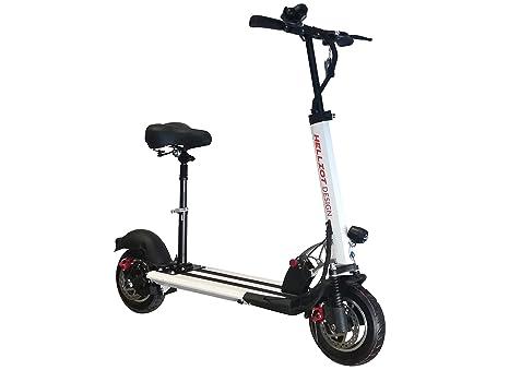 Helliot Design Scooter Pro Patinete eléctrico Plegable, Adultos Unisex, Blanco y Rojo, Talla única