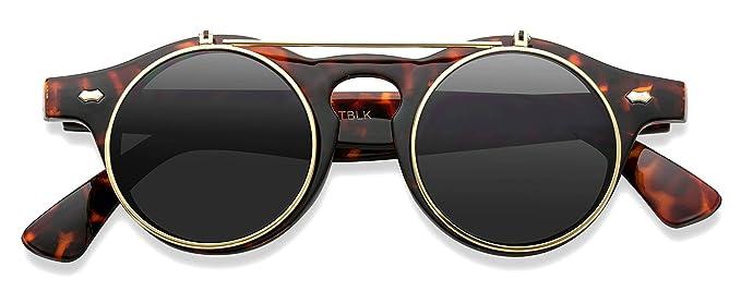 Gafas de sol con lentes redondas que se levantan, estilo ...