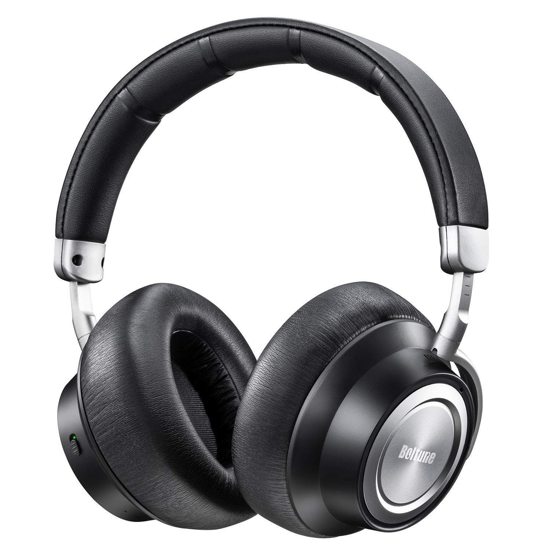Auriculares Boltune Cancelacion de Ruido [2019 Upgraded] Bluetooth con Microfono/Deep Bass Inalambrico Over-Ear Protein