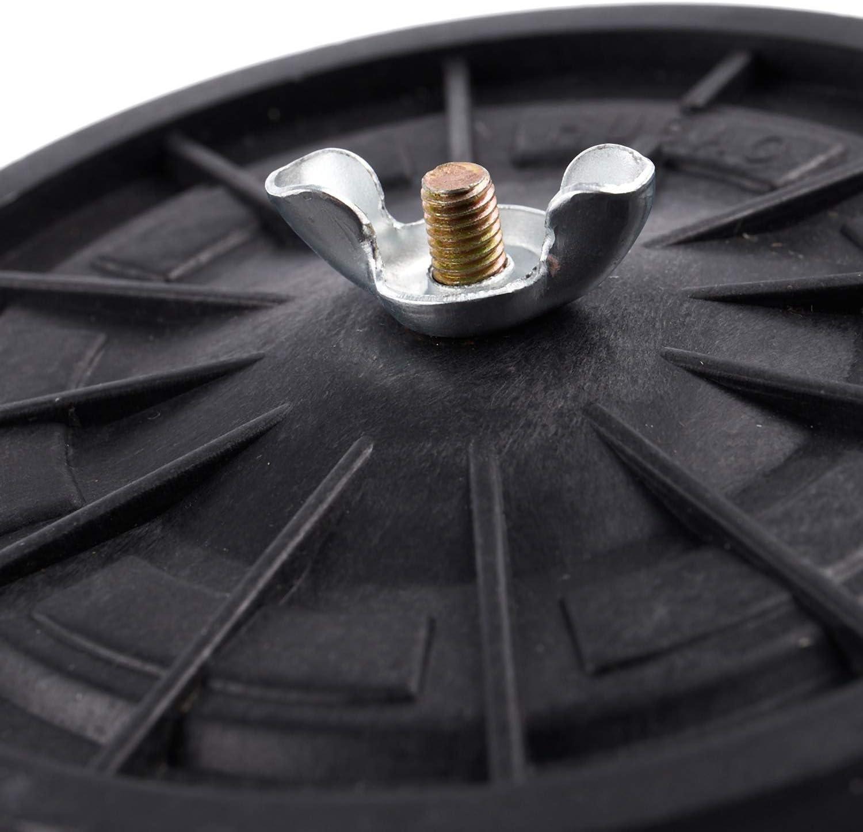 Andifany 1//2 PT Macho Rosca Plastico Negro 10cm Diametro Filtro Silenciador para Aire Compresor
