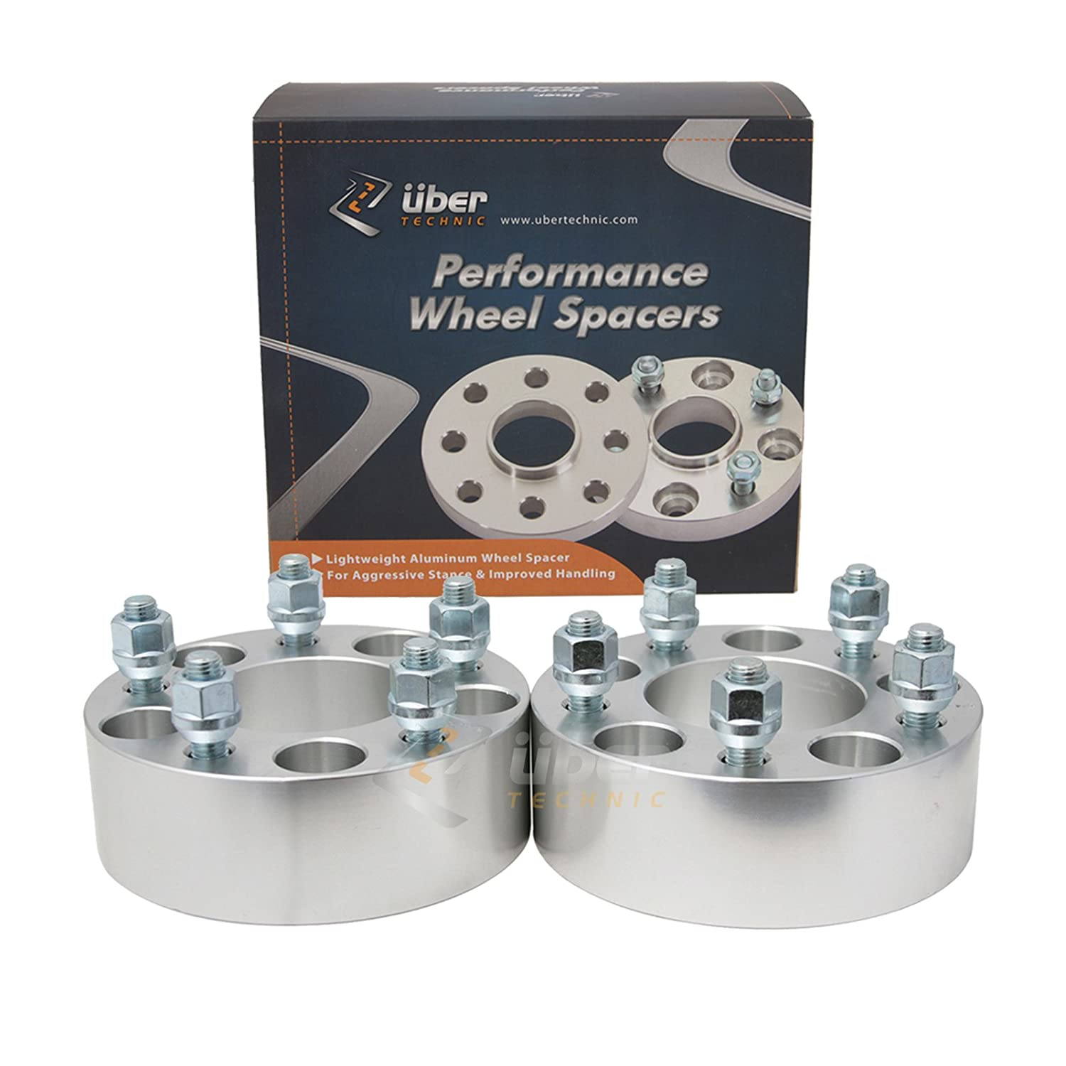 (2) 38mm (1.5') 5x4.5 to 5x4.5 Hubcentric Wheel Spacers for Ford Lincoln Mustang Edge Crown Victoria Bronco Ranger Explorer Town Car Mountaineer Aviator Edge Mark 7 (1/2' Studs & 70.5mm bore) Precision European Motorwerks