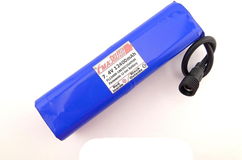18650保護さ7.4 V 12400 mAh Li - Ionバッテリーforバイクライト2s4pem