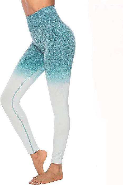 Amazon.com: Leggings para mujer, sin costuras, para yoga ...