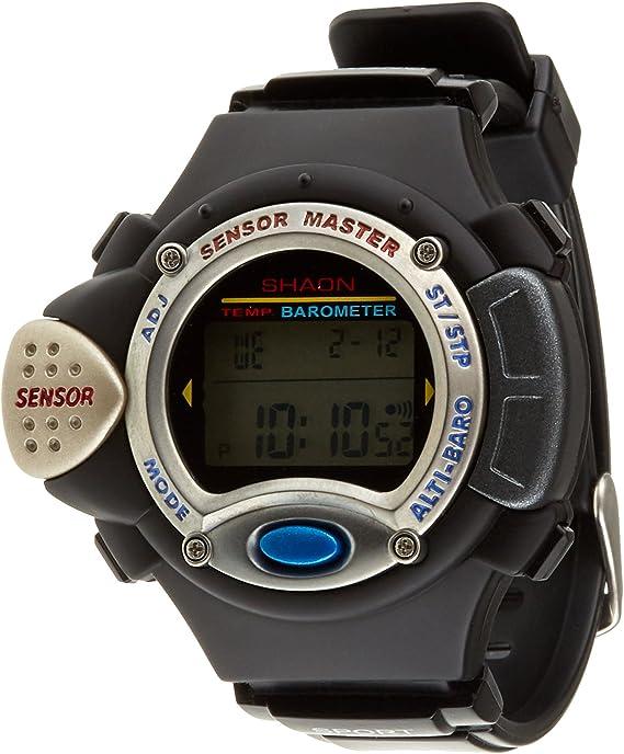 Shaon Pontess - Reloj de Cuarzo para Hombres, Color Negro